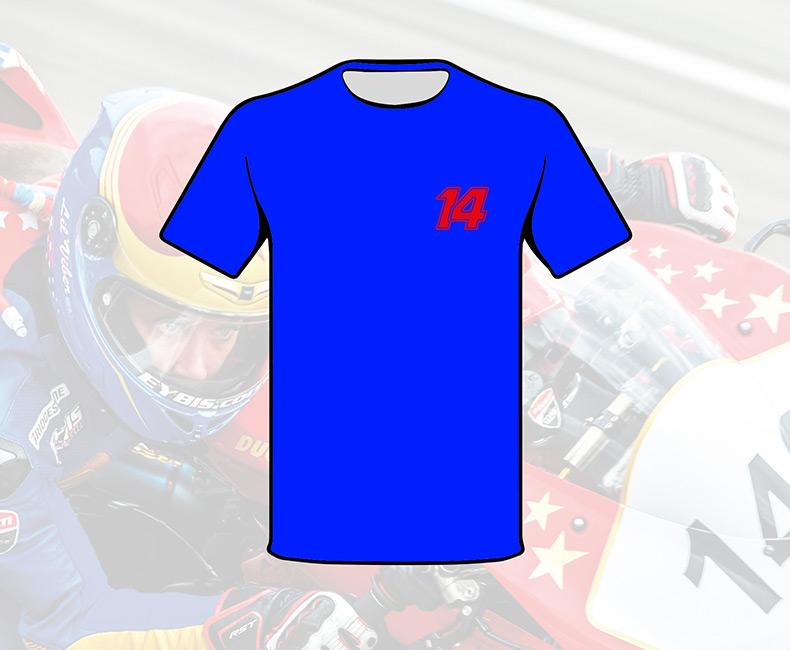 T-shirt bleu (Homme)